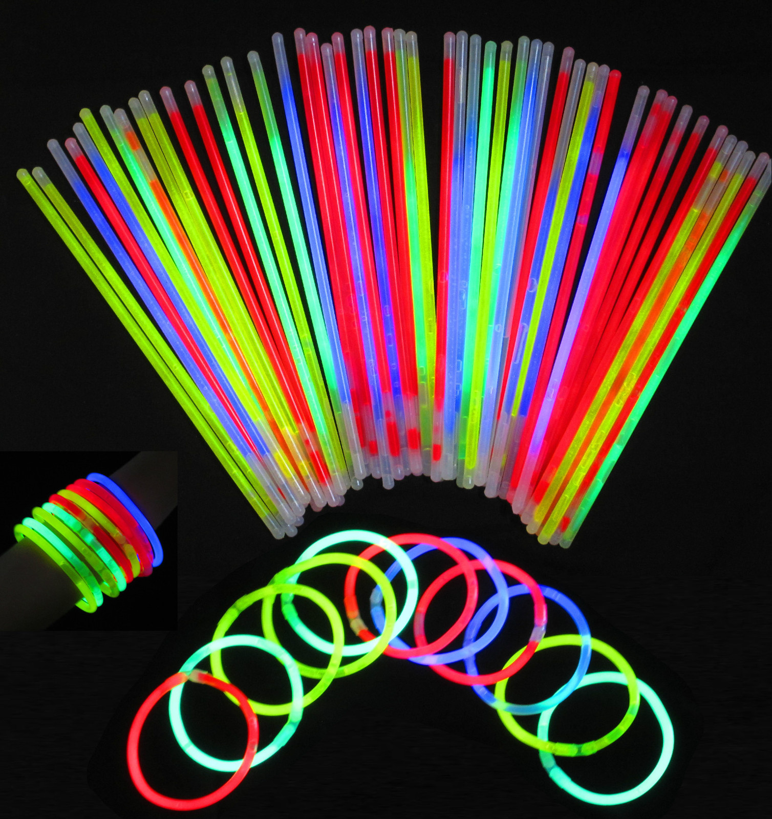 Neon Glow Bracelets Necklaces