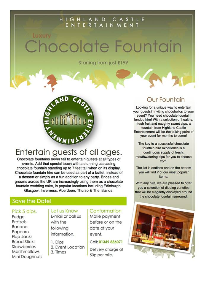 Luxury Chocolate Fountain Hire